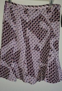 Sz 8 Purple Polka dot skirt